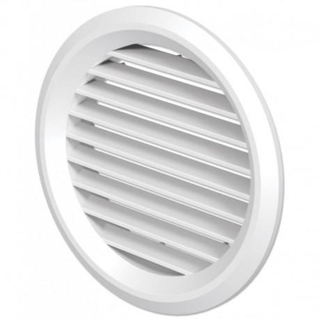 Větrací mřížka na fasádu kruhová s přírubou Ø 100 mm plastová