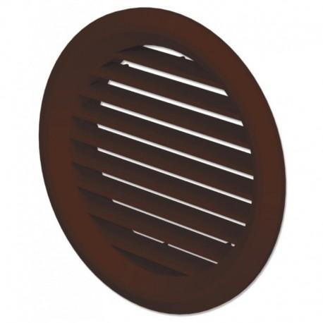 Větrací mřížka na fasádu kruhová s přírubou Ø 100 mm hnědá
