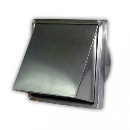 Větrací mřížka nerezová s klapkou 150x150-100 mm USUA-100