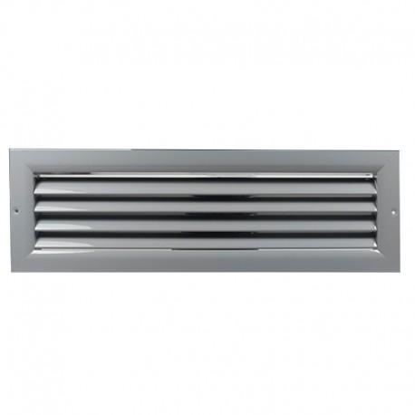 Větrací mřížka z vysoce kvalitního extrudovaného hliníku - 200x150 mm, šedá