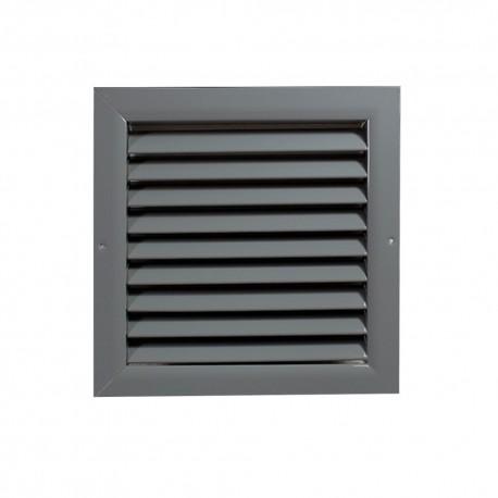 Větrací mřížka z vysoce kvalitního extrudovaného hliníku - 400x400 mm, šedá