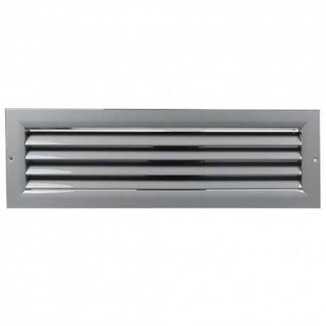Větrací mřížka z vysoce kvalitního extrudovaného hliníku - 450x100 mm, šedá