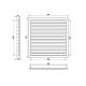 Větrací mřížka z vysoce kvalitního extrudovaného hliníku - 350x250 mm, šedá