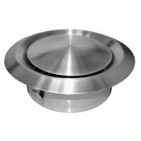 Talířový ventil-anemostat odvodní nerez ANMN-P 125 Nerez-matný