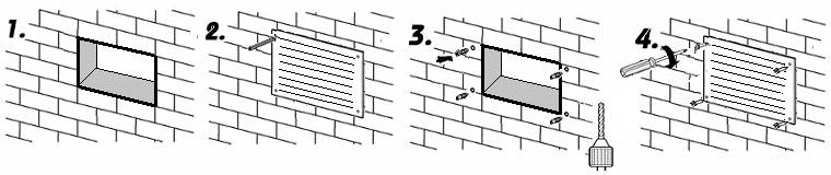 Montáž kovové větrací mřížky
